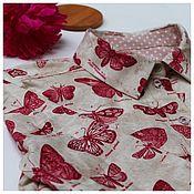 Одежда ручной работы. Ярмарка Мастеров - ручная работа Рубашка с бабочками. Handmade.