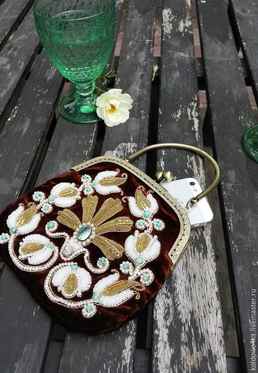 Женские сумки ручной работы. Ярмарка Мастеров - ручная работа. Купить сумочка. Handmade. Коричневый, бирюза натуральная, бирюза