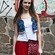 Жилеты ручной работы. Заказать Джинсовый жилет вязаный. Knit Studio Yana Buryak (Яна). Ярмарка Мастеров. Джинсовый стиль