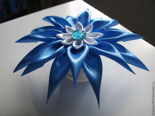 """Диадемы, обручи ручной работы. Ярмарка Мастеров - ручная работа. Купить Астра """"Голубое небо"""". Handmade. Голубой, украшение для волос"""