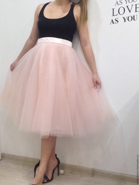 Фатин средней жесткости юбка