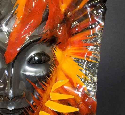 """Интерьерные  маски ручной работы. Ярмарка Мастеров - ручная работа. Купить стеклянная маска """"Локи"""". Handmade. Украшение интерьера"""
