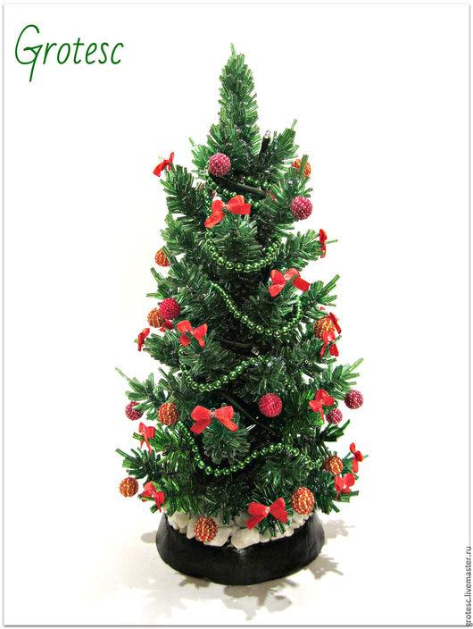 Деревья ручной работы. Ярмарка Мастеров - ручная работа. Купить Новогодняя елка. Handmade. Зеленый, новогодняя елка, новогодние игрушки