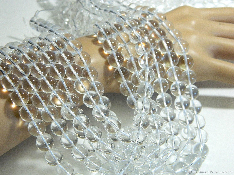 Горный хрусталь 6,5 мм гладкий шар, Бусины, Саратов,  Фото №1