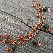 Bead bracelet handmade. Livemaster - original item Bracelet fashion Hand Bracelet with Copper Beads stone Bracelet Boho. Handmade.