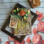 """Открытки ручной работы. Ярмарка Мастеров - ручная работа Открытка """"Велосипед"""". Handmade."""