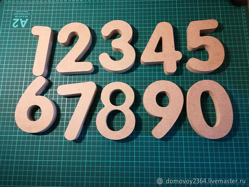 Большие цифры из МДФ, Заготовки для декупажа и росписи, Москва,  Фото №1