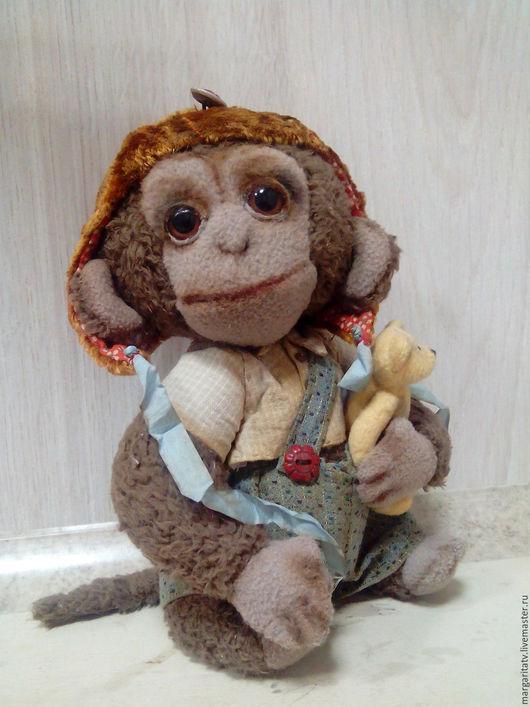 Мишки Тедди ручной работы. Ярмарка Мастеров - ручная работа. Купить Обезьянка Мишка. Handmade. Бежевый, обезьяны, винтажный стиль