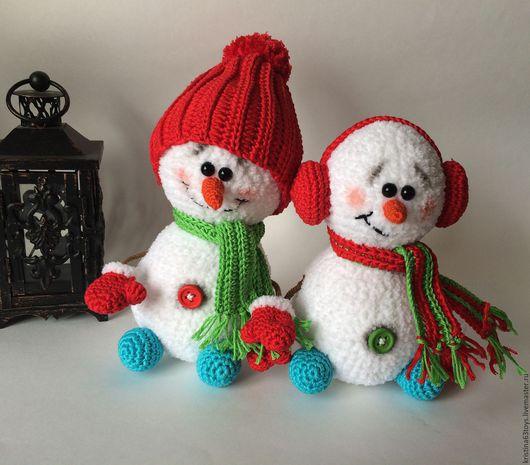 Новый год 2017 ручной работы. Ярмарка Мастеров - ручная работа. Купить Снеговики. Handmade. Белый, снеговички, новогодний декор