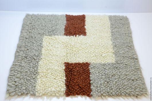 Текстиль, ковры ручной работы. Ярмарка Мастеров - ручная работа. Купить Коврик из овечьей шерсти KB033m. Handmade. коврик