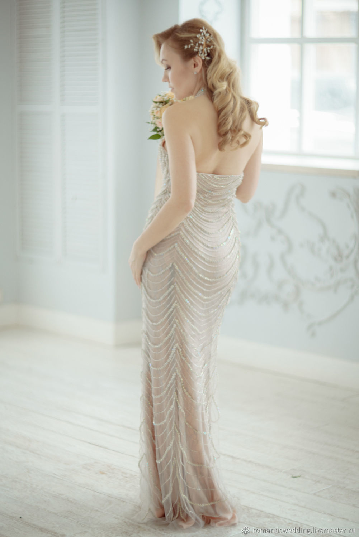 Свадебное и вечернее платье с камнями, Платья, Москва,  Фото №1