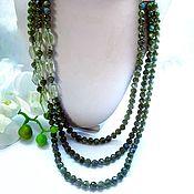 Украшения handmade. Livemaster - original item Necklace with labradorite and green amethyst