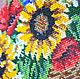 """Картины цветов ручной работы. Картина """"Букет"""" вышивка бисером. Елена Сидорова (ТМ 'СЕлена'). Ярмарка Мастеров. Вышивка ручная"""