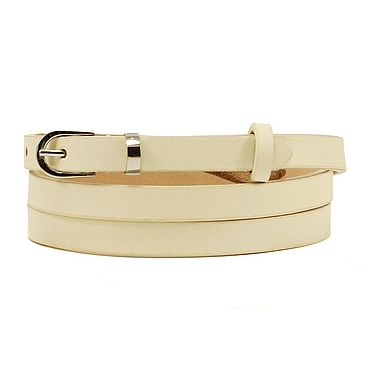 Accessories. Livemaster - original item Copy of Copy of Copy of White leather belt. Handmade.
