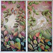 """Картины и панно ручной работы. Ярмарка Мастеров - ручная работа Диптих """"Восточные мотивы"""". Handmade."""
