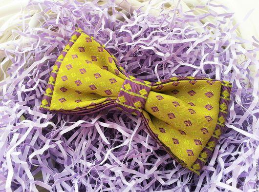 """Галстуки, бабочки ручной работы. Ярмарка Мастеров - ручная работа. Купить Бабочка-галстук """"Сиреневый лайм"""". Handmade. Лиловый"""