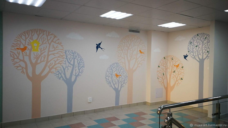 Роспись стен: Лес, Декор, Мытищи,  Фото №1