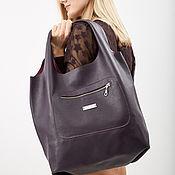 Сумки и аксессуары handmade. Livemaster - original item Bag Bag Leather Purple Large Bag Bag Shopping Bag Shopper T-shirt Bag. Handmade.