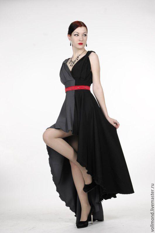 Платья ручной работы. Ярмарка Мастеров - ручная работа. Купить Платье Alteya. Handmade. Чёрно-белый, длинная юбка, трикотаж