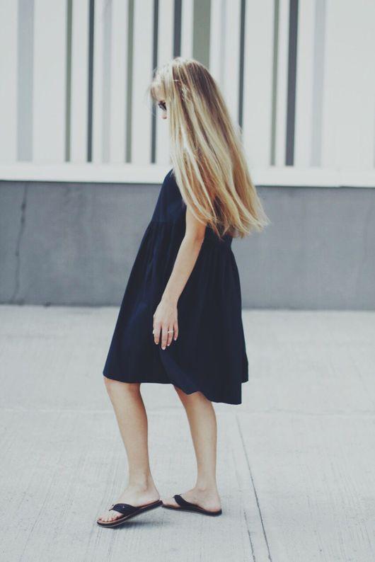 """Платья ручной работы. Ярмарка Мастеров - ручная работа. Купить Платье свободного кроя """"  dark blue color"""". Handmade."""