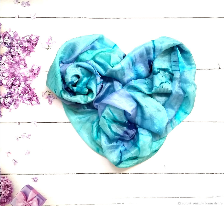 Batik stole Caribbean Islands, women's scarf, Wraps, Moscow,  Фото №1