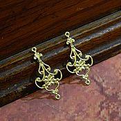 Материалы для творчества handmade. Livemaster - original item Connectors brass for jewelry 30h15 mm pair. Handmade.