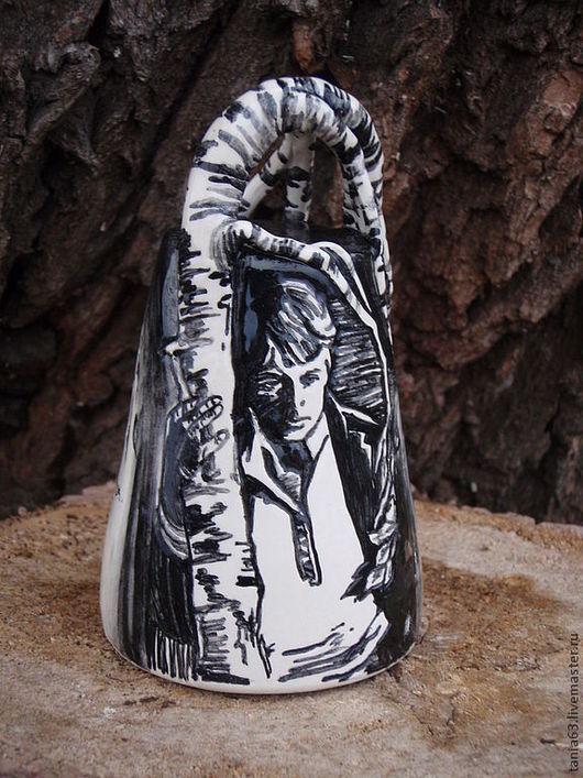 """Колокольчики ручной работы. Ярмарка Мастеров - ручная работа. Купить Авторский колокольчик """"Я последний поэт деревни..."""". Handmade."""