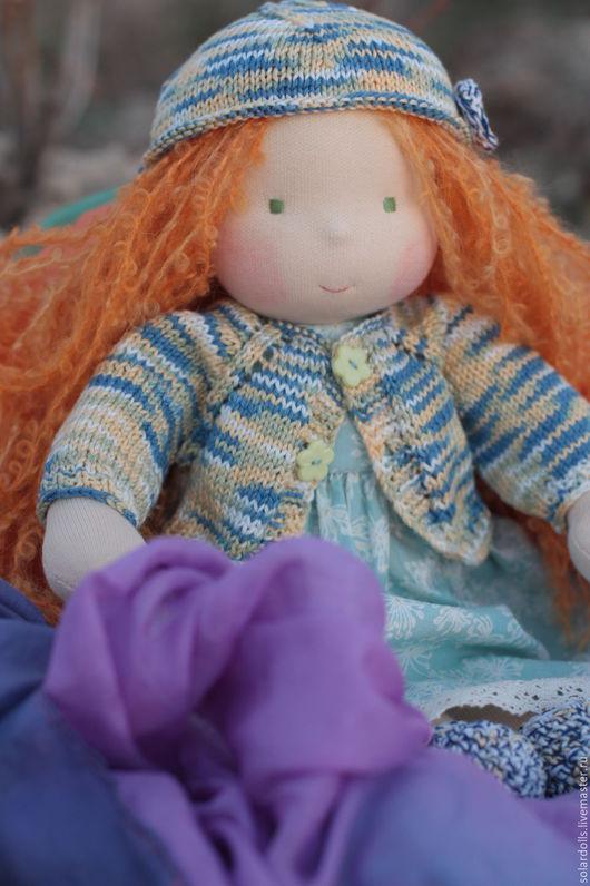 Анна 38 см Вальдорфская кукла.Julia Solarrain (SolarDolls) Ярмарка Мастеров