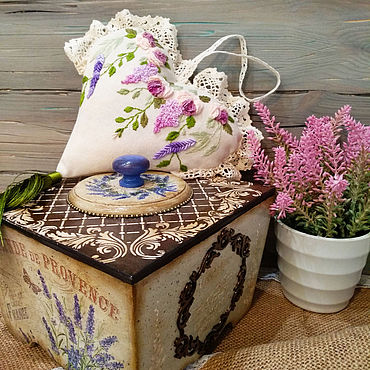Для дома и интерьера ручной работы. Ярмарка Мастеров - ручная работа Шкатулки: Лавандовый аромат. Handmade.