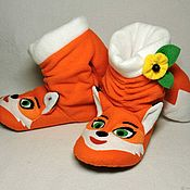 Обувь ручной работы handmade. Livemaster - original item Slippers-Foxes. Handmade.