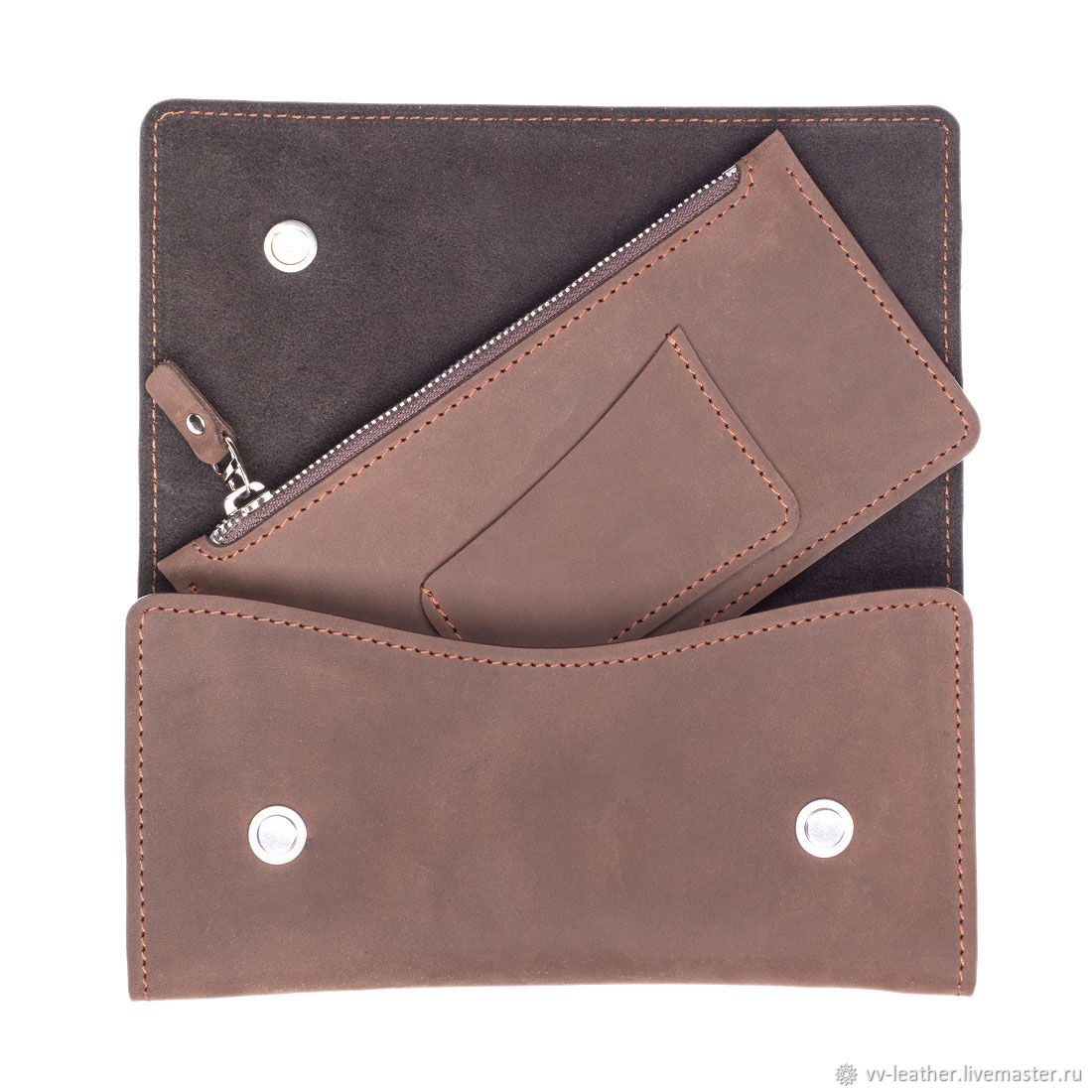 Travel wallet leather, Wallets, Moscow,  Фото №1