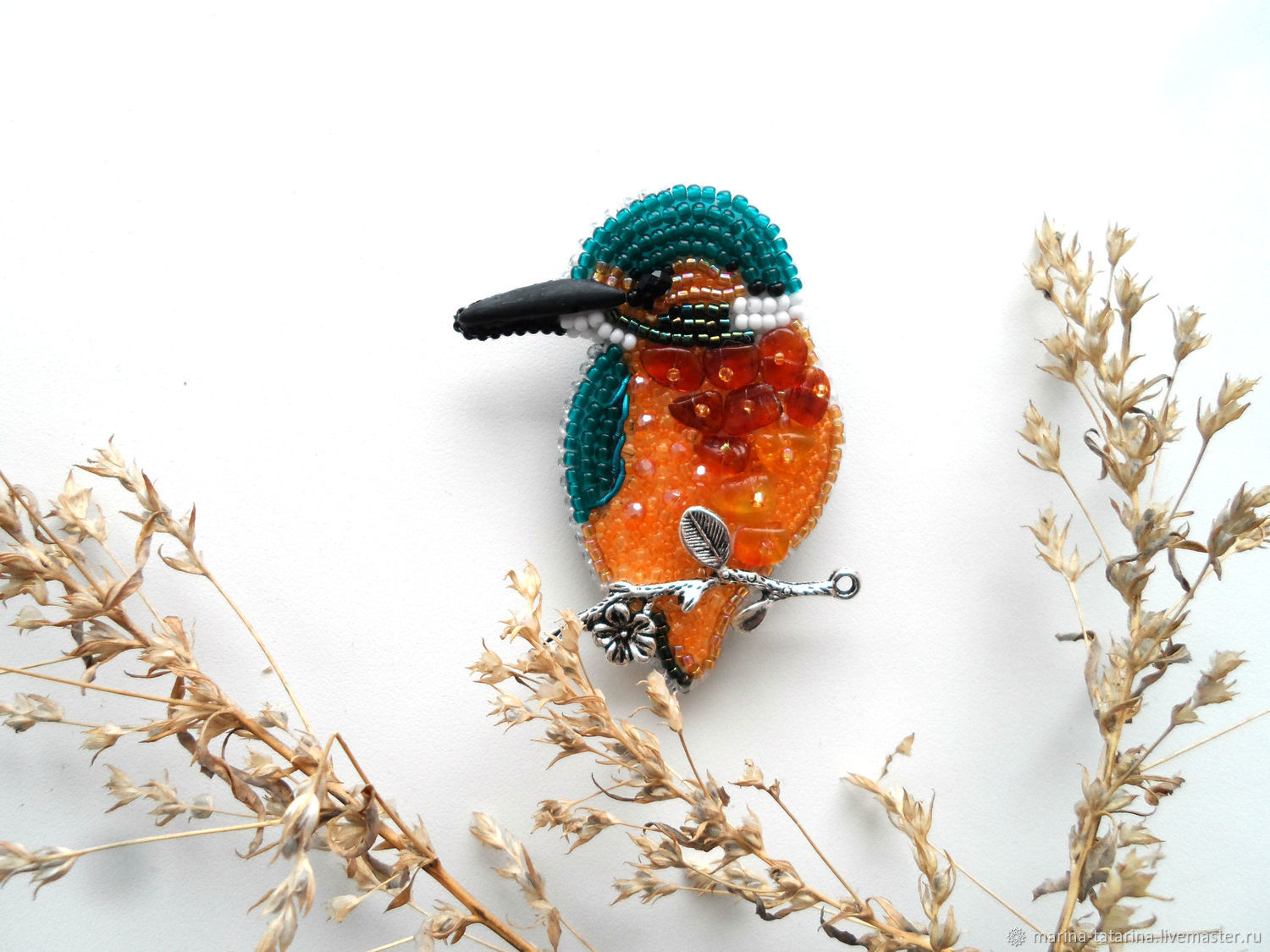 'Kingfisher 2 ' brooch, Brooches, Eniseisk,  Фото №1