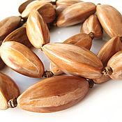 Материалы для творчества handmade. Livemaster - original item Walnut tree beads Sang 40h17mm. Handmade.