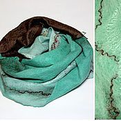 Аксессуары ручной работы. Ярмарка Мастеров - ручная работа шарф валяный Счастливый. Handmade.