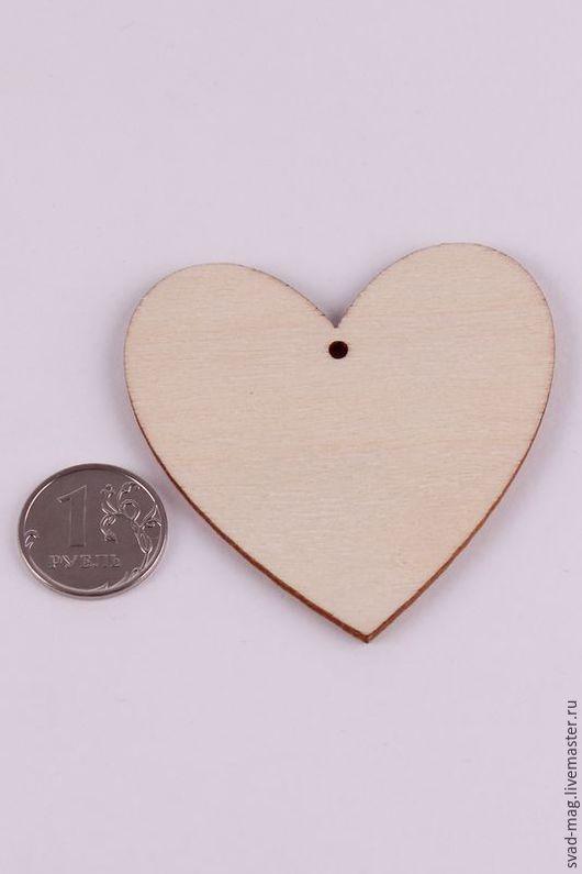 Декупаж и роспись ручной работы. Ярмарка Мастеров - ручная работа. Купить Сердце из дерева с отверстием (6х6 см). Handmade. Бежевый