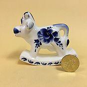 Сувениры и подарки handmade. Livemaster - original item Cow Russian rocking chair porcelain. Handmade.