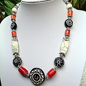 Украшения handmade. Livemaster - original item Necklace made of natural materials in ethnic style In the North Extreme.. Handmade.