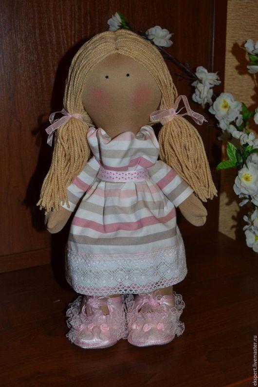Коллекционные куклы ручной работы. Ярмарка Мастеров - ручная работа. Купить Интерьерная кукла, текстильная кукла, большеножка, Снежка. Handmade.