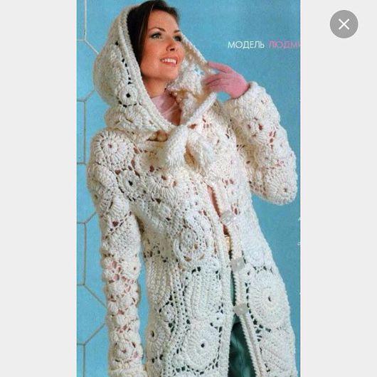 """Верхняя одежда ручной работы. Ярмарка Мастеров - ручная работа. Купить Вязаное пальто"""" Зимний сад """". Handmade."""