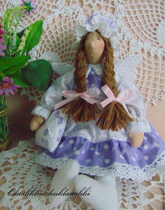 Куклы Тильды ручной работы. Ярмарка Мастеров - ручная работа. Купить Сплюшка. Handmade. Сиреневый, сонный ангел