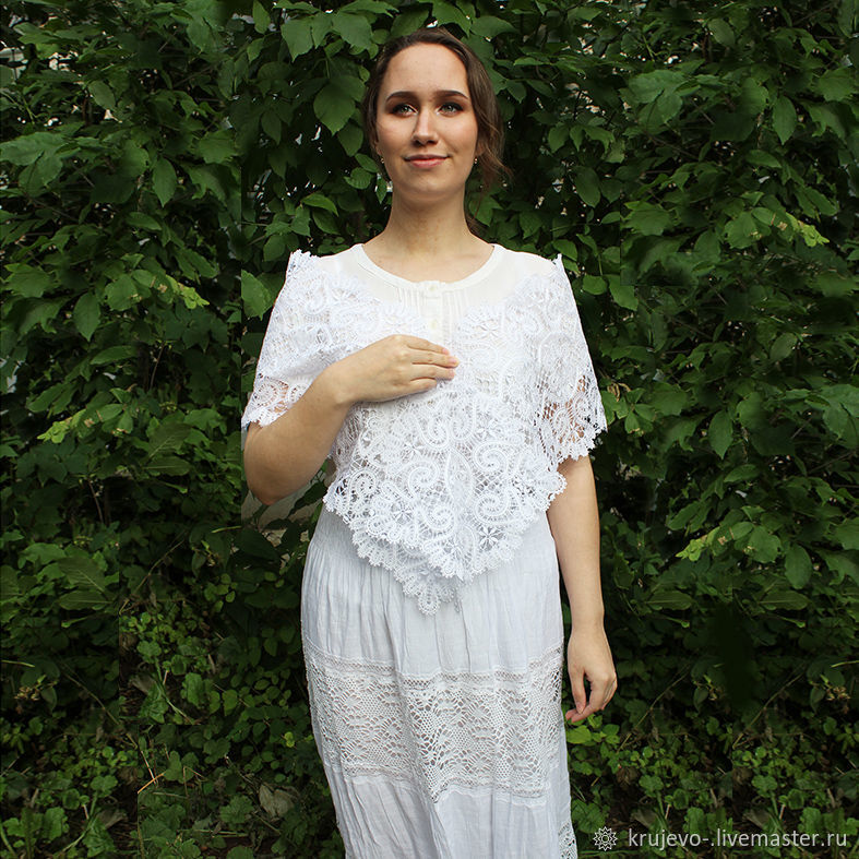 TIPPET LACE 'Flowers Vyatka', Wraps, Kirov,  Фото №1