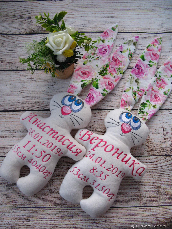 Именная игрушка - Зайка, Мягкие игрушки, Раменское,  Фото №1