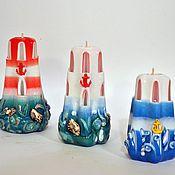 Свечи ручной работы. Ярмарка Мастеров - ручная работа Свеча Маяк резная сувенирная свечи Санкт-Петербург подарок моряку. Handmade.