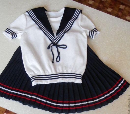 """Одежда для девочек, ручной работы. Ярмарка Мастеров - ручная работа. Купить """" Я - морячка !"""". Handmade. Белый"""