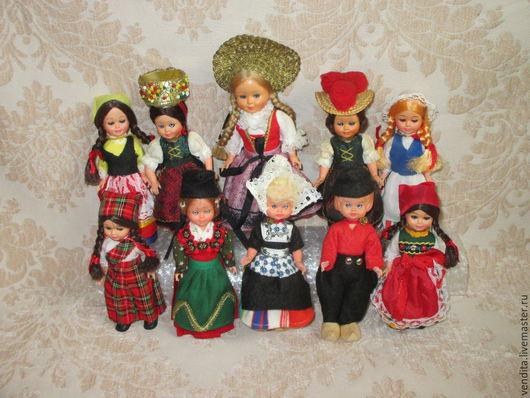 Винтажные куклы и игрушки. Ярмарка Мастеров - ручная работа. Купить Коллек. куколки в нац.костюмах. Handmade. Разноцветный, для девочек, кукольнику