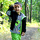 Одежда для мальчиков, ручной работы. Ярмарка Мастеров - ручная работа. Купить Трикотажный комплект Карта сокровищ. Handmade. Разноцветный, джинсы