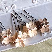 Свадебный салон ручной работы. Ярмарка Мастеров - ручная работа Свадебные шпильки для волос гортензии из полимерной глины. Handmade.