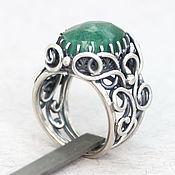 """Украшения ручной работы. Ярмарка Мастеров - ручная работа Серебряное кольцо, природный изумруд """"Serenity"""", кольцо с изумрудом. Handmade."""