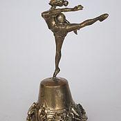 Сувениры и подарки handmade. Livemaster - original item Brass bell Gymnast. Handmade.