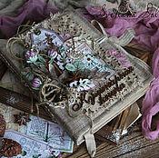 """Канцелярские товары handmade. Livemaster - original item Книга рецептов """"Розовый клевер"""" винтаж коричневый арома. Handmade."""